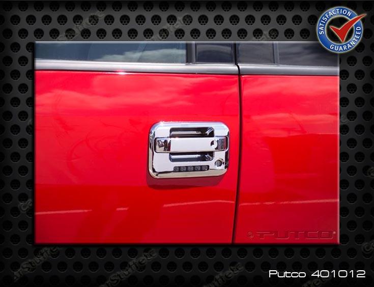 Putco Chrome Door Handle Cover 04 13 Ford F150 F150 SVT Raptor 4 Door w Keypad