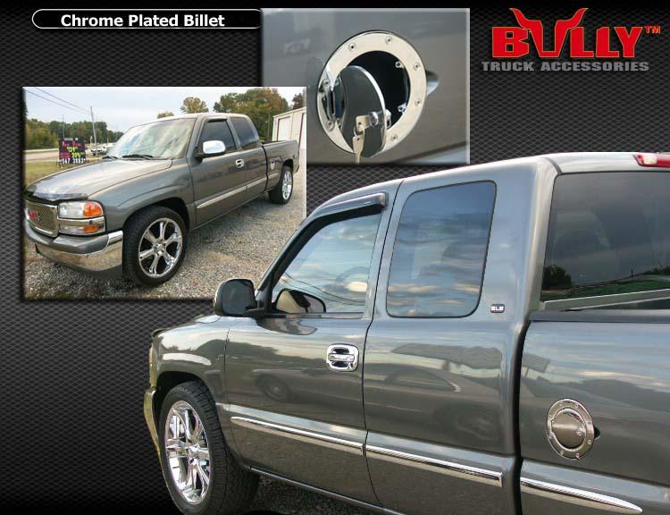 Chrome Locking Gas Fuel Door 99 00 Gmc Yukon Denali Ebay