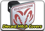 Die Cast Chrome Hitch Covers