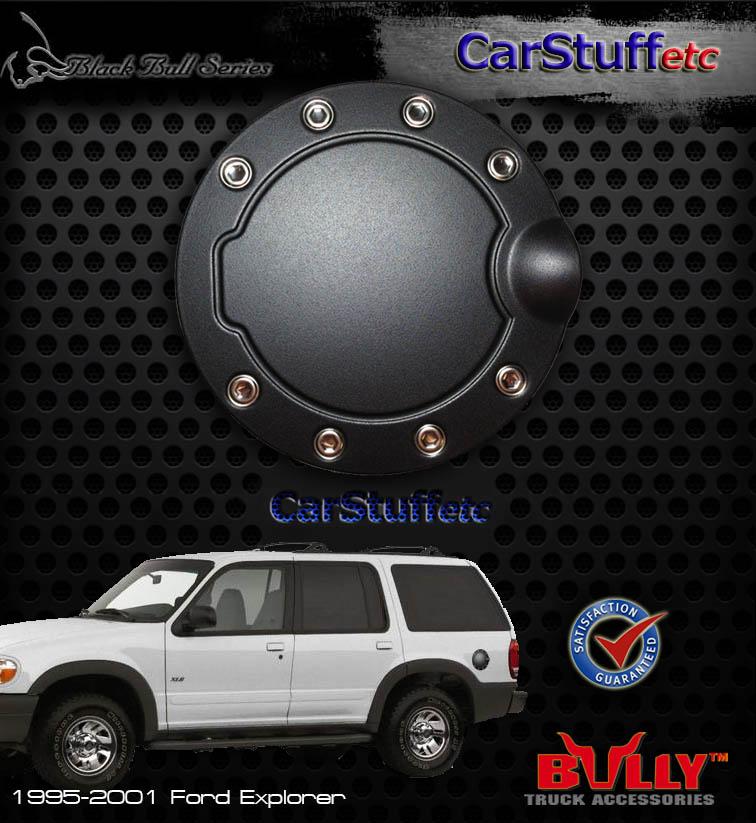 Black Powder Coated Stainless Steel Gas Fuel Door Cover