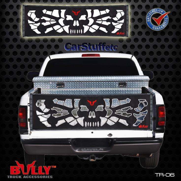 Bully Tr 06 Skull Amp Bones Tailgate Tail Gate Net Fullsized